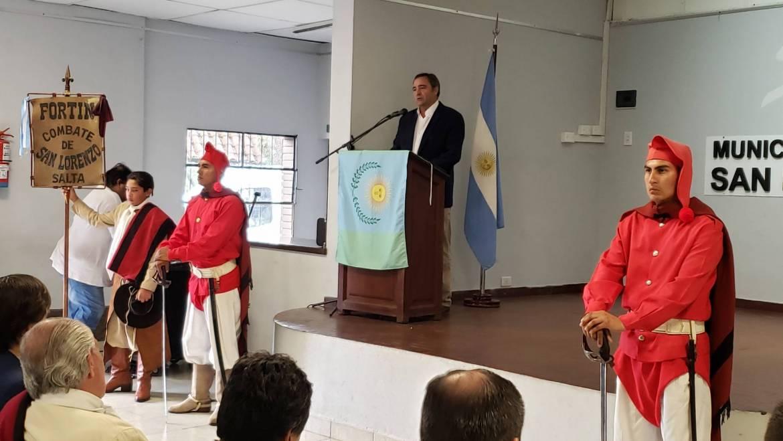 Acto en conmemoración del 206° aniversario del Combate de las Lomas de San Lorenzo.
