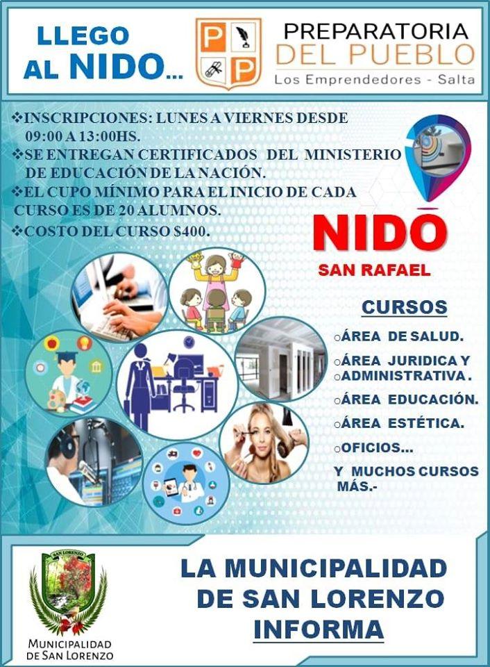 Cursos de Capacitación en el NIDO de Barrio San Rafael