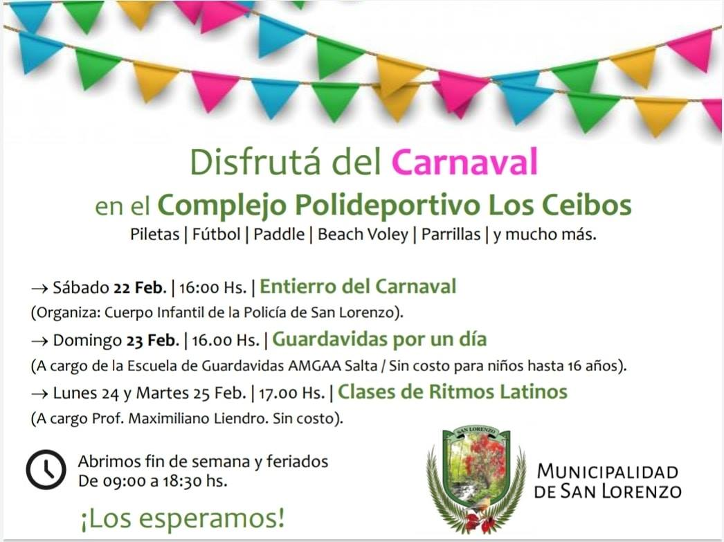 Viví el carnaval en San Lorenzo