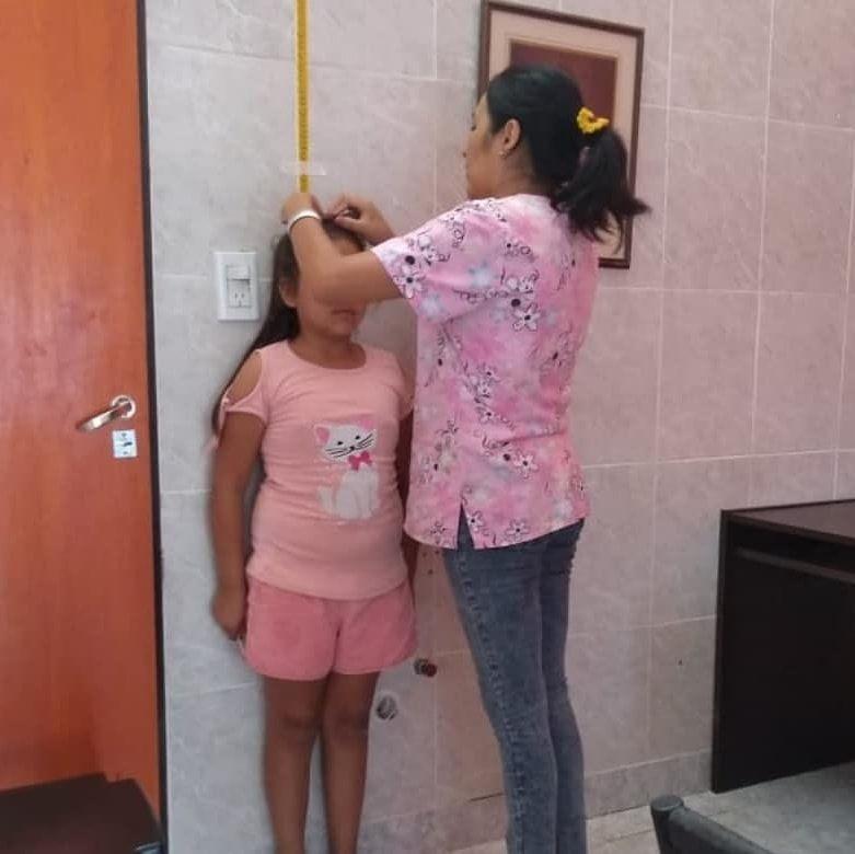 Control de talla y peso para niños de Atocha y La Ciénega