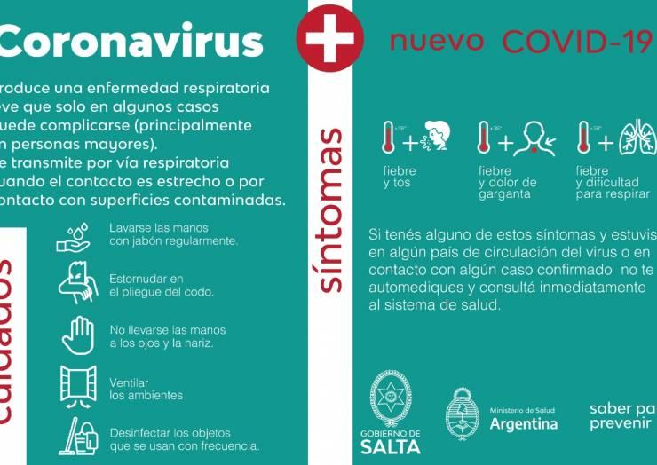 Recomendaciones de Salud Pública para prevenir infecciones por coronavirus