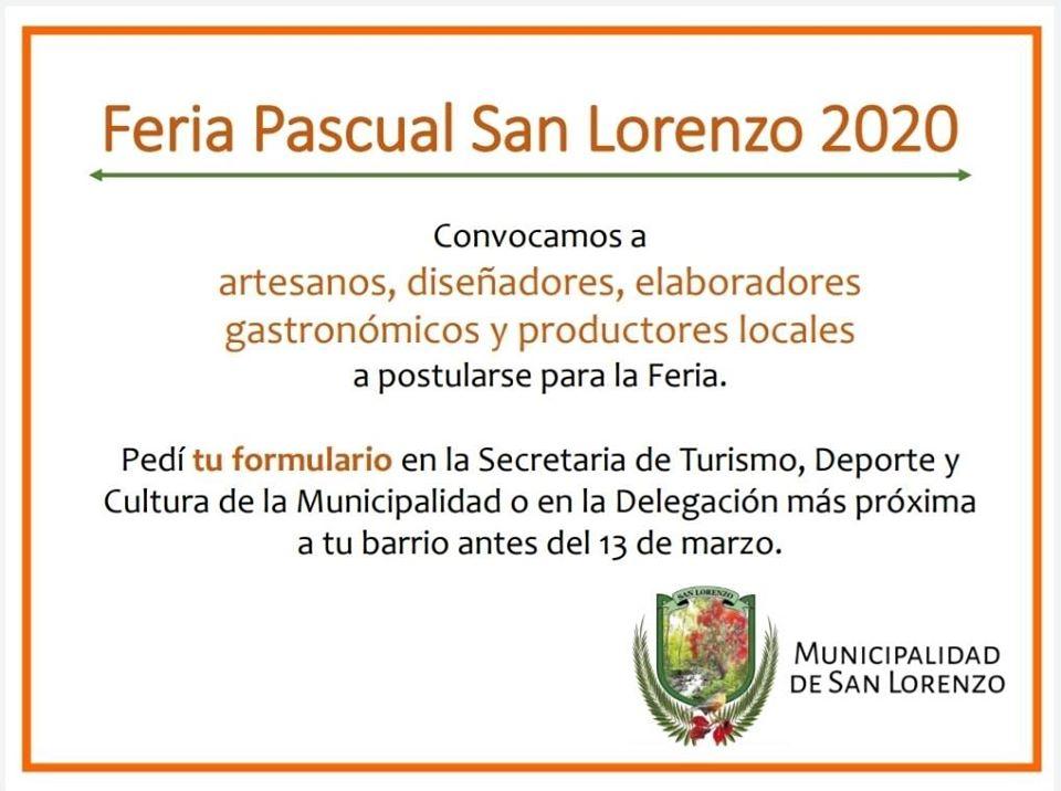 Está abierta la convocatoria para la Feria Pascual