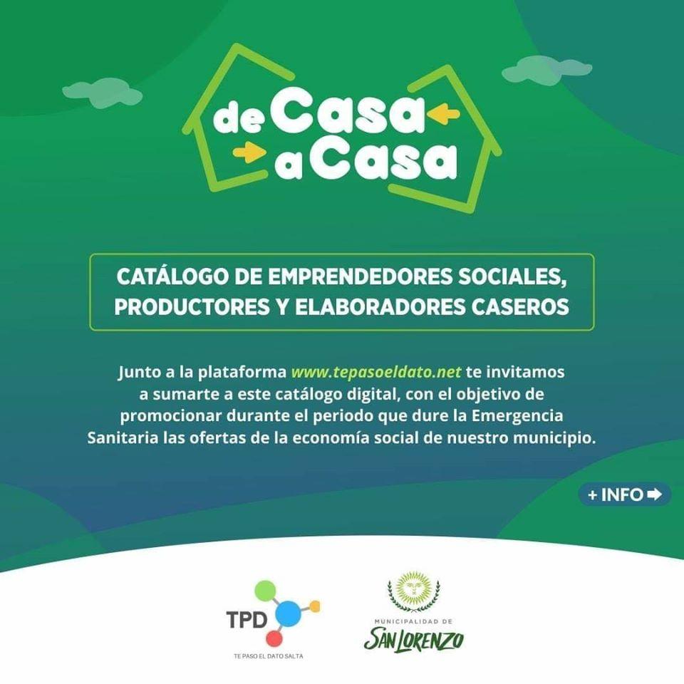 #DeCasaACasa: Elaboradores caseros podrán ofrecer sus productos en un catálogo on line