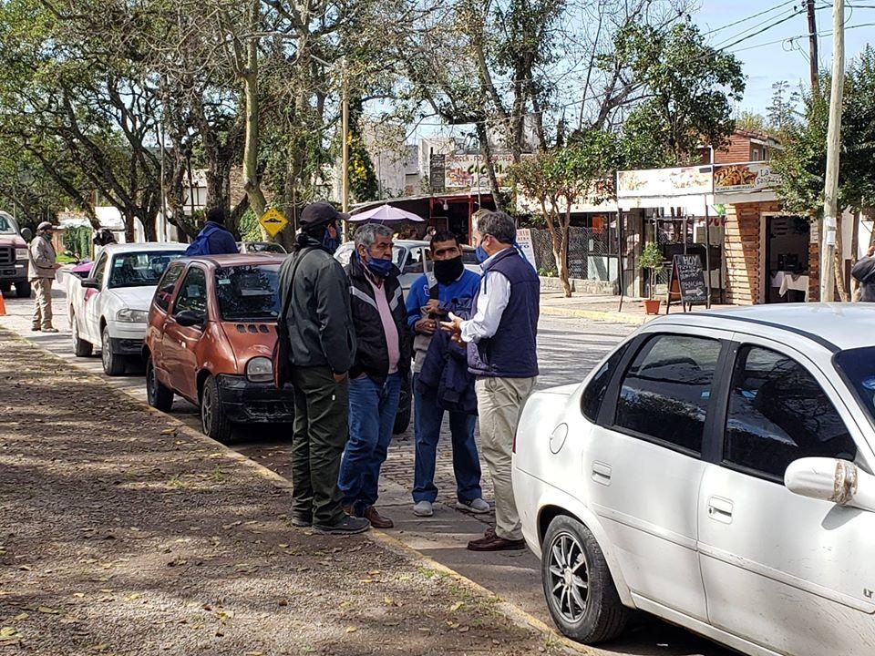 Saravia se reunió con delegados gremiales