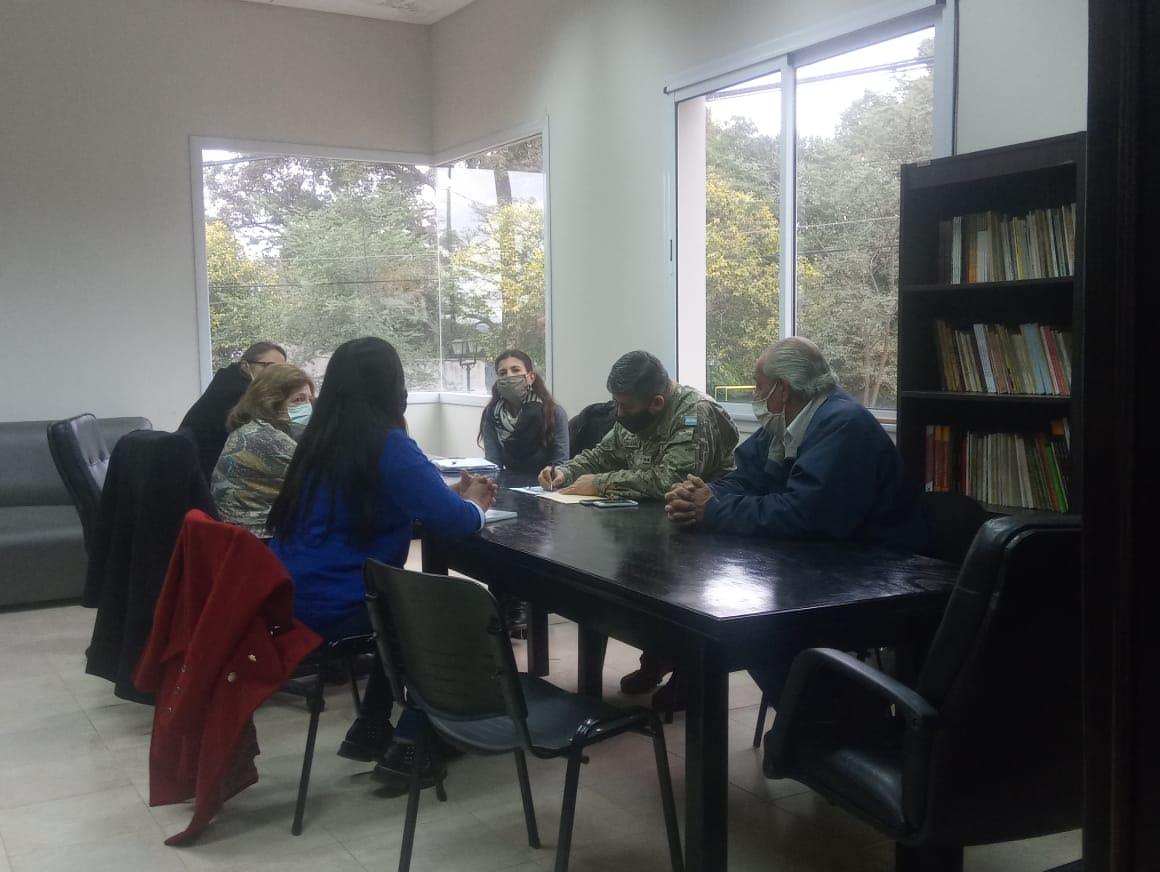 Mesa de trabajo con referentes de áreas protegidas