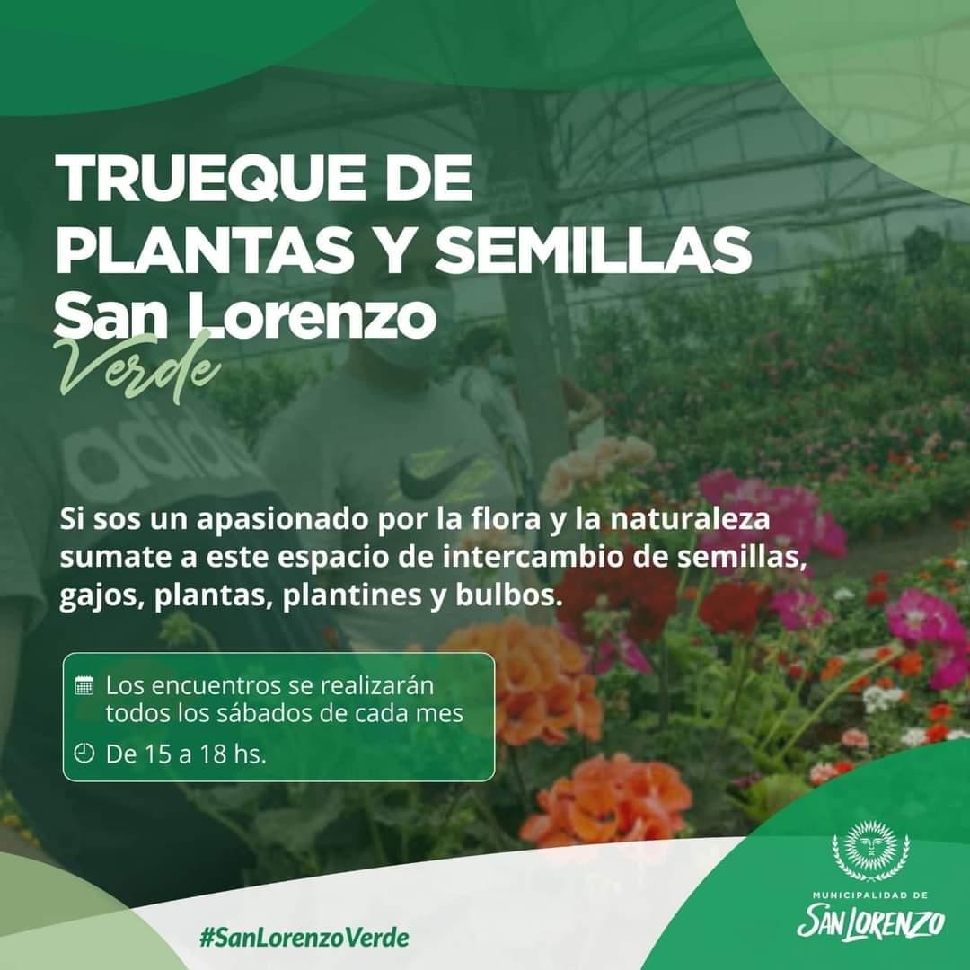 San Lorenzo Verde: Inicia el ciclo de intercambio de plantas y semillas