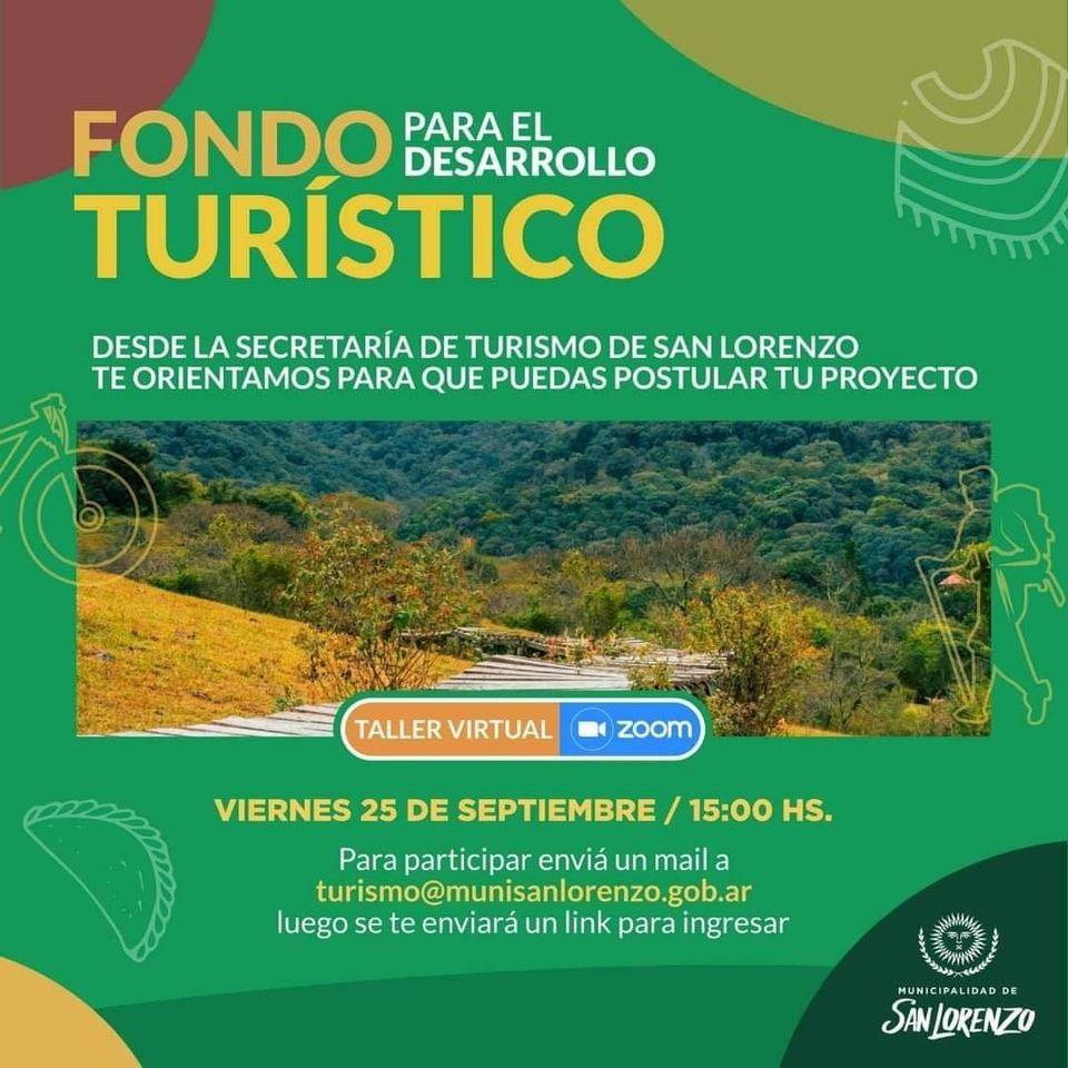 Fondo para el Desarrollo Turístico: Se brindará un taller de capacitación para postulantes