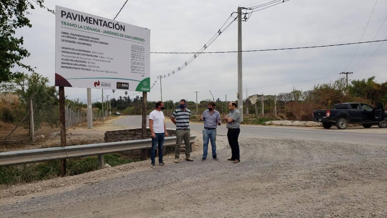 Iniciaron las tareas de pavimentación en el tramo La Ciénaga – Jardines de San Lorenzo
