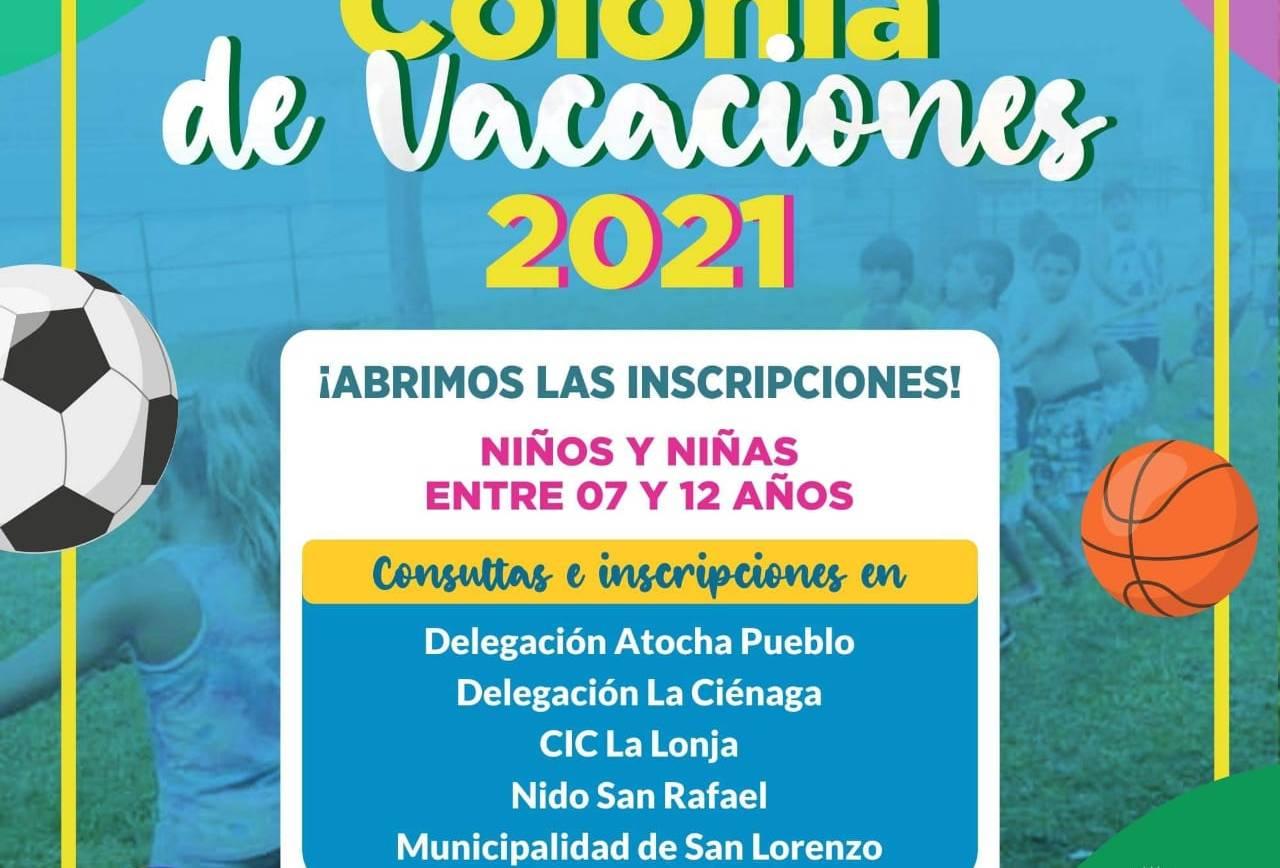 Están abiertas las inscripciones para las colonias de vacaciones