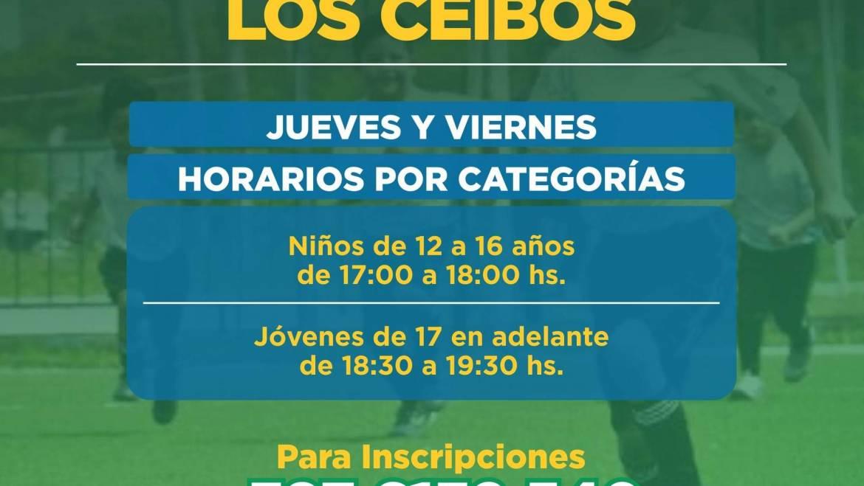 Inició sus actividades la escuela de fútbol de Los Ceibos