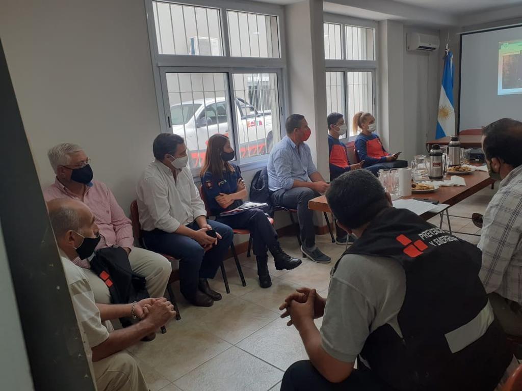 La municipalidad coordina el trabajo con Defensa Civil y Bomberos Voluntarios