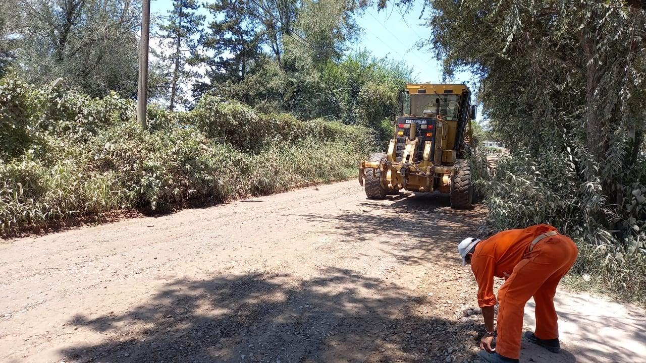 Ejecutan tareas de recuperación en la calle Juan Carlos Davalos de Atocha Pueblo