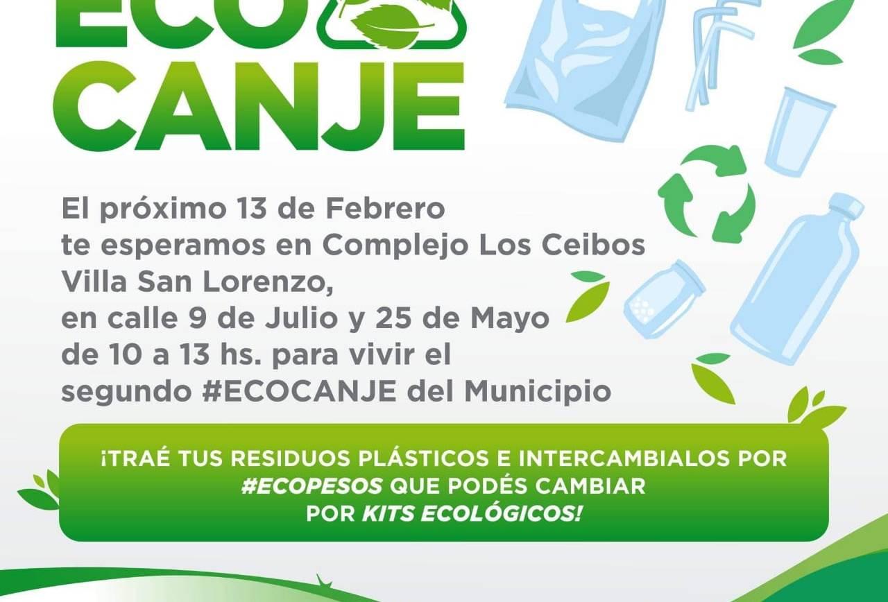 Nueva edición del #EcoCanje en San Lorenzo