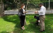 Saravia realizó gestiones ante Aguas del Norte Y el Ente Regulador